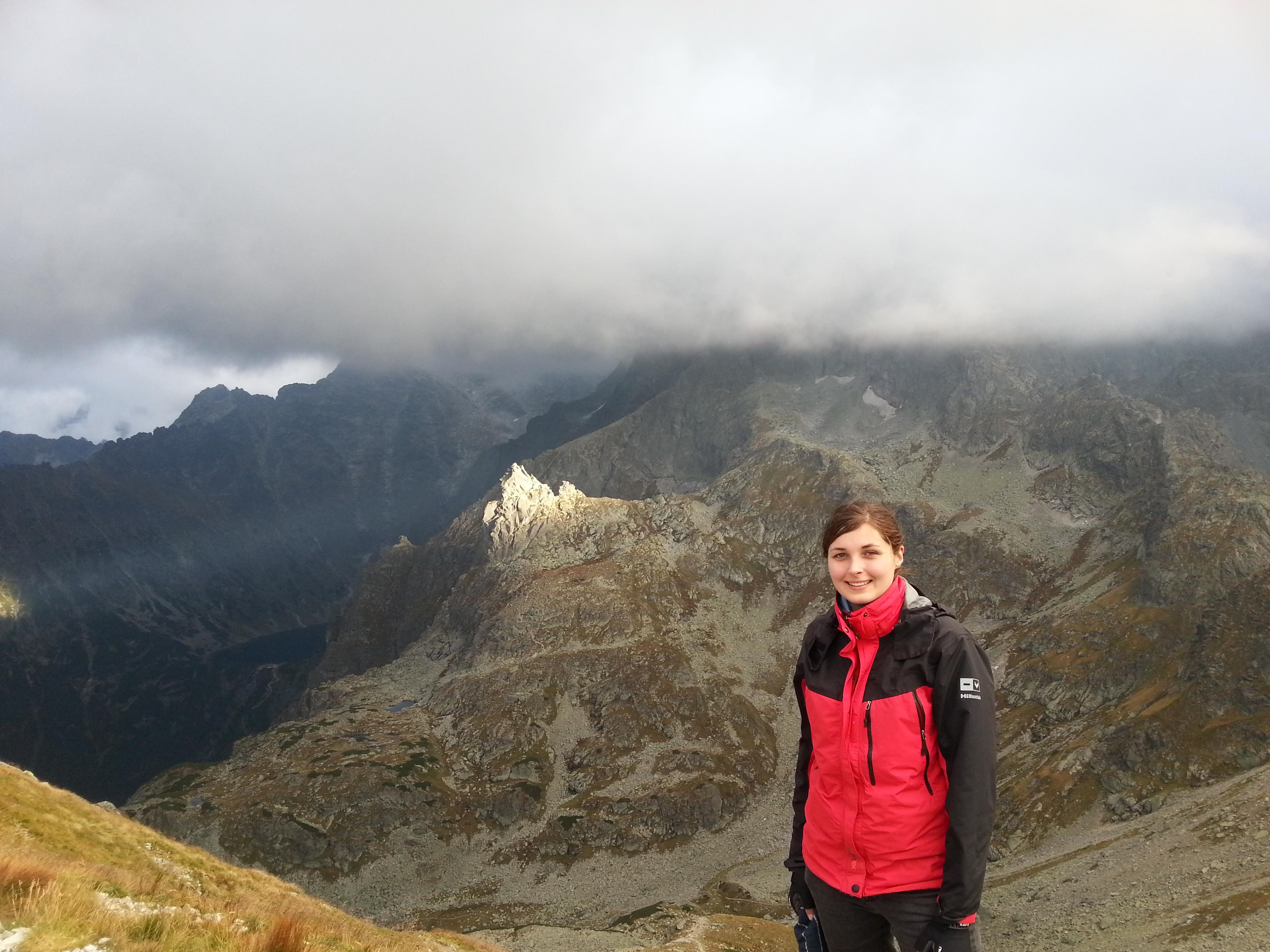 Agnieszka w górach