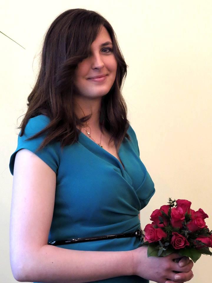 Agnieszka w zielonej sukience